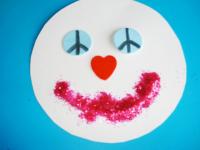 Bonhomme de neige paix, amour, bonheur-6