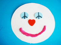 Bonhomme de neige paix, amour, bonheur-7