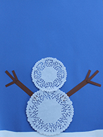 Bonhomme neige napperons-03