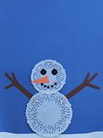 Bonhomme neige napperons-04