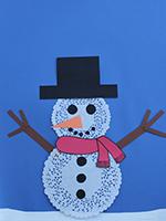 Bonhomme neige napperons-06