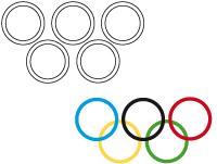 Bricolage-drapeau olympique collectif