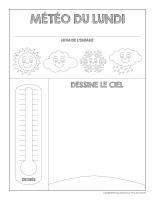 Bulletin météo à colorier