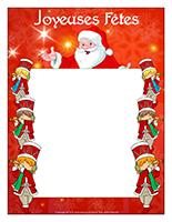 Cadre individuel–Le défilé du père Noël