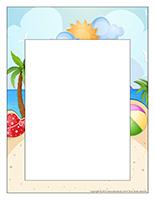 Cadre photos-Journée thématique-Beach party
