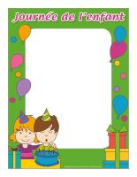 Cadre photos-Journée thématique-Journée de l'enfant