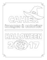 Cahier à colorier-Halloween 2017