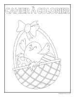 Cahier à colorier-La grande fête de Pâques