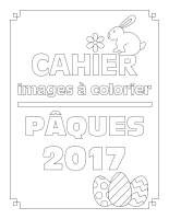 Cahier à colorier-Pâques 2017