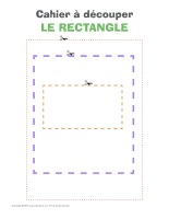 Cahier à découper-Le rectangle