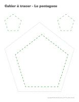 Cahier à tracer-Le pentagone