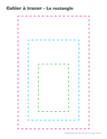 Cahier à tracer-Le rectangle