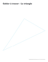 Cahier à tracer-Le triangle