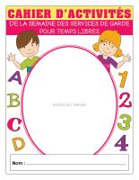 Cahier d'activités pour temps libres-Semaine des services de garde 2019-1