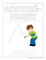 Cahier d'écriture-Activité-projet-juillet