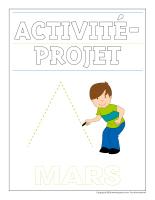 Cahier d'écriture-Activité-projet-mars
