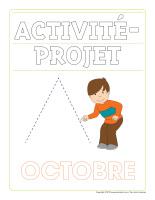 Cahier d'écriture-Activité-projet-octobre-1