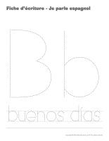 Cahier d'écriture-Je parle espagnol