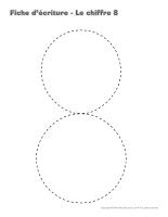 Cahier d'écriture-Le chiffre 8