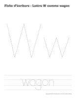 Cahier d'écriture-Lettre W