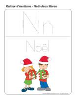 Cahier d'écriture-Noël-Jeux libres