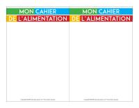 Cahier de l'alimentation-2