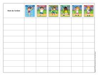 Cahier de pointage olympiades d'été