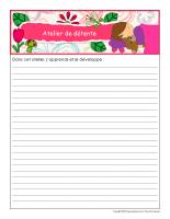 Cahier de suivi-Ateliers printemps-2