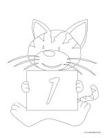 Cahier images à colorier-Le chiffre 1