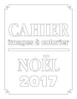 Cahier images à colorier-Noël 2017
