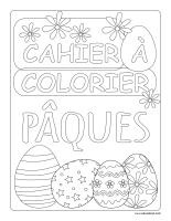 Cahier images à colorier-Pâques 2021