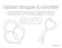 Cahier images à colorier-Saint-Valentin 2017