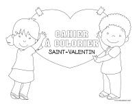 Cahier images à colorier-Saint-Valentin 2019