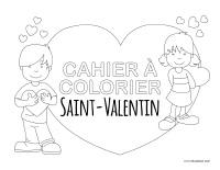 Cahier images à colorier-Saint-Valentin 2021