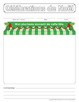 Cahier souvenir-Célébrations de Noël