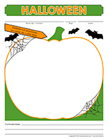 Cahier souvenir-Halloween 2020