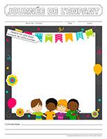 Cahier souvenir-Journée de l'enfant