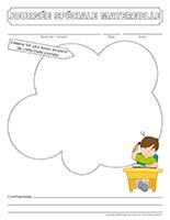 Cahier souvenir-Journée spéciale-maternelle