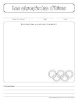 Cahier souvenir-Les olympiades d'hiver