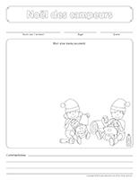 Cahier souvenir-Noël des campeurs
