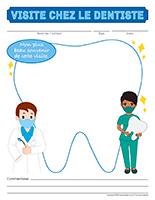 Cahier souvenir-Visite chez le dentiste