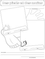 Cahier souvenirs - Des pieds et des mains