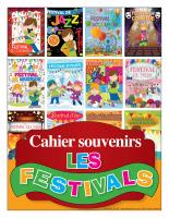 Cahier souvenirs-Les festivals