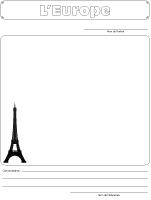 Cahier souvenirs-Souvenir d'Europe
