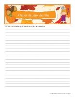 Cahiers de suivi-L'automne-1
