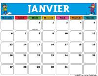 Calendrier-Janvier à décembre-2019