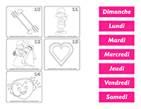Calendrier à colorier de l'avent-Saint-Valentin