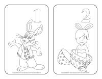 Calendrier de l'avent à colorier-Pâques