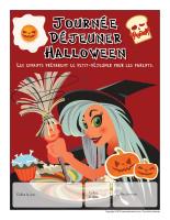 Calendrier perpétuel-Déjeuner Halloween