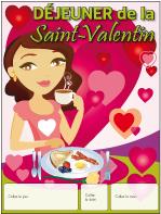 Calendrier perpétuel-Déjeuner Saint-Valentin